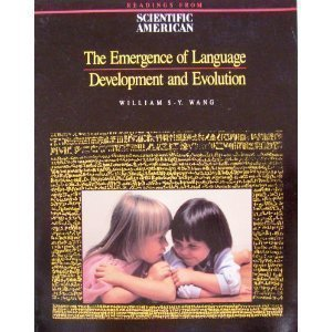 9780716721468: The Emergence of Language: Development and Evolution : Readings from Scientific American Magazine