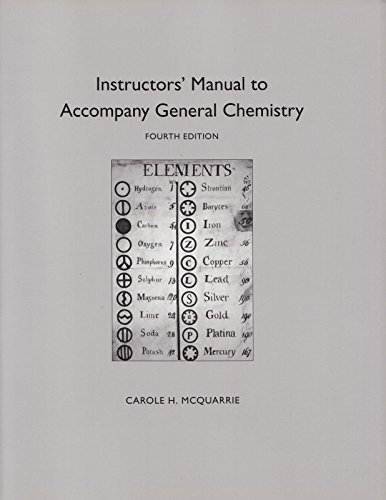 9780716721857: General Chemistry: Instructor's Manual
