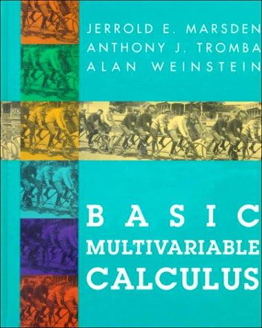9780716724438: Basic Multivariable Calculus