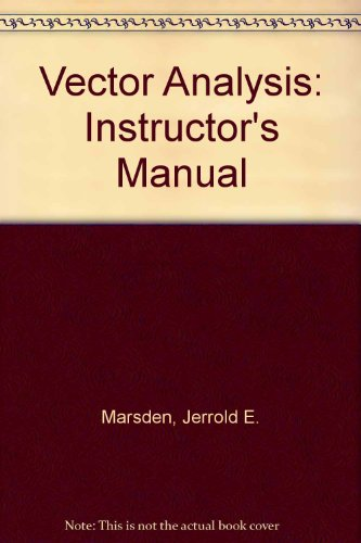 9780716724452: Vector Analysis: Instructor's Manual