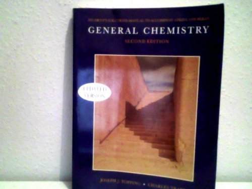 9780716725169: General Chemistry : Second Edition ( Students Solutions Manual To Accompany Atkins and Beran)