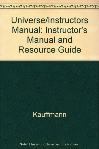 Universe/Instructors Manual: Kauffmann
