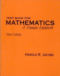 9780716725695: Test Bank for Mathematics: A Human Endeavor