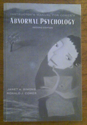 9780716726906: Abnormal Psychology: Instructor's Manual