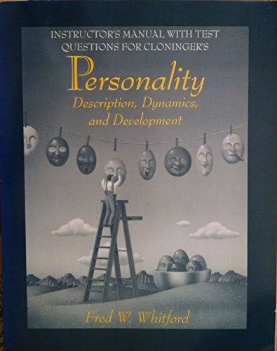 9780716727590: Instructor's Manual with Test Questions for Cloninger's Personality, Description, Dynamics, and Development