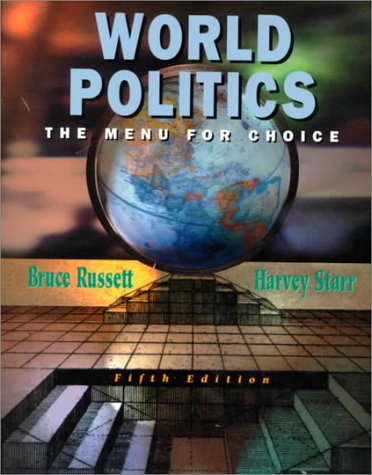 9780716728207: World Politics: The Menu for Choice