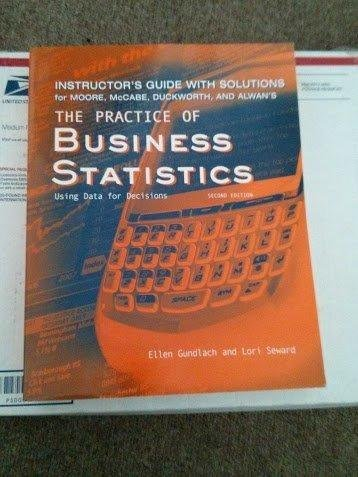 9780716730101: The Practice of Business Statistics: Using Data for Decisions (Instructor's Guide with Solutions)
