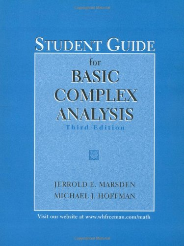 9780716732464: Basic Complex Analysis Student Guide