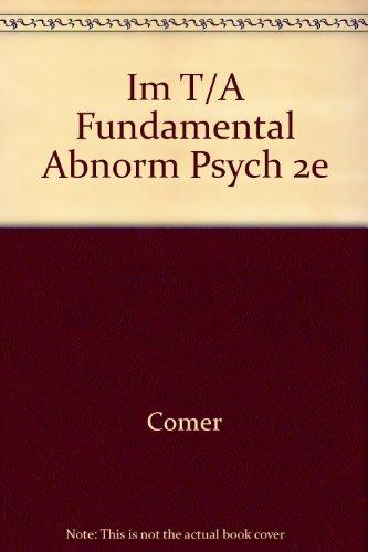 9780716733454: Im T/A Fundamental Abnorm Psych 2e