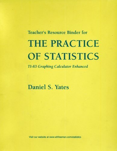 9780716734154: Teacher's Resource Binder for The Practice of Statistics: TI-83 Graphing Calculator Enhanced