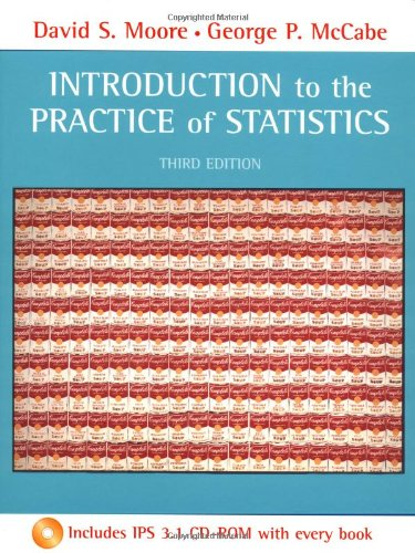 Introduction to the Practice of Statistics & CD-Rom 9780716735021 CD ROM is included. If applicable, CD ROM, Online access or codes are not guaranteed to work. There may be writing/highlighting marks in