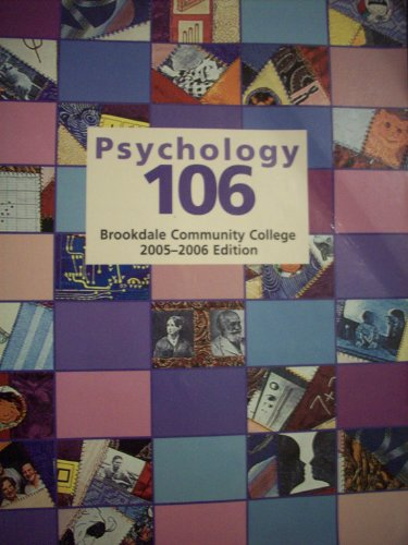 9780716735458: Psychology 106: Brookdale Community College 2005-2006 Edition