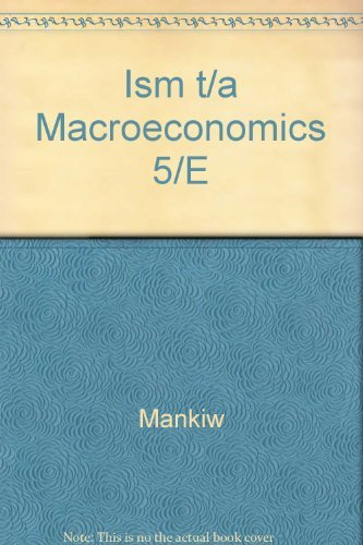Macroeconomics: Mankiw, N. Gregory