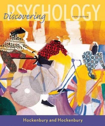 Discovering Psychology, 3rd: Hockenbury, Don H.; Hockenbury, Sandra E.
