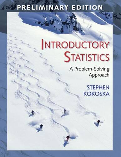 9780716757627: Introductory Statistics (Preliminary Edition): A Problem-Solving Approach