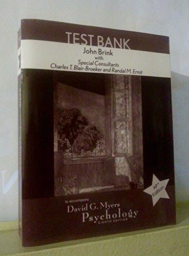 9780716761402: Test Bank to Accompany Psychology, 8th Edition, AP Edition