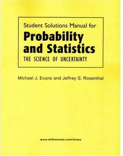 9780716762195: Probability and Statistics Solutions Manual
