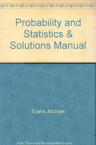 9780716762201: Probability and Statistics & Solutions Manual