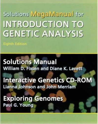 9780716763109: Introduction to Genetic Analysis Solutions Megamanual & Interactive Genetics CD-ROM