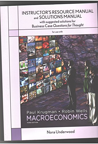 9780716763734: MACROECONOMICS INSTRUCTORS RESOURCE MANUAL
