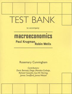 9780716763741: Macroeconomics Test Bank