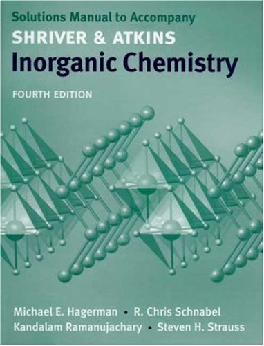 9780716770534: Inorganic Chemistry: Solutions Manual