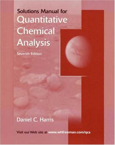 9780716772606: Quantitative Chemical Analysis Student Solutions Manual