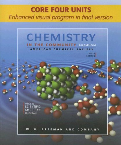 9780716772934: Chemistry in the Community (Chem Com) Core Four Units