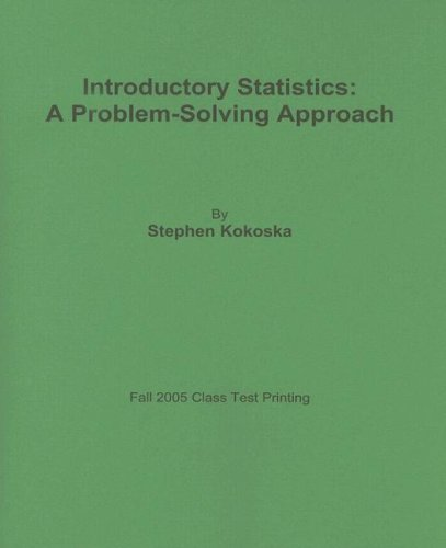 9780716773849: Introductory Statistics: A Problem-Solving Approach