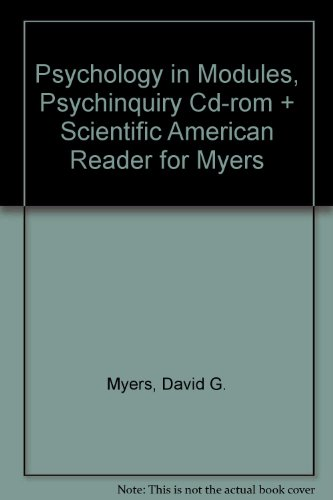 9780716775171: Psychology, Eighth Edition, in Modules (cloth), Psychinquiry CD-ROM & Scientific American Reader for Myers