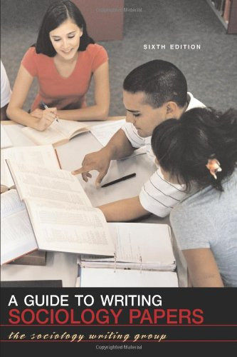 9780716776260: A Guide to Writing Sociology Papers
