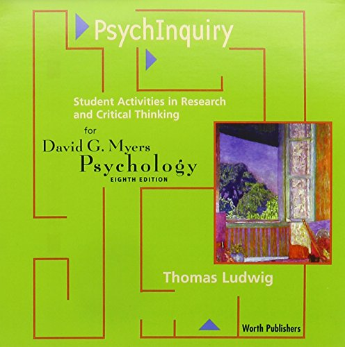 9780716776284: PsychInquiry for Myers's Psychology