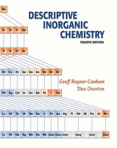 9780716776956: Descriptive Inorganic Chemistry