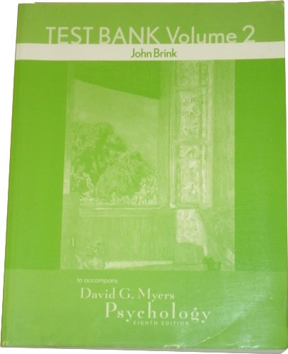 9780716778820: Test Bank Volume 2: To Accompany Myers Psychology Eighth Edition