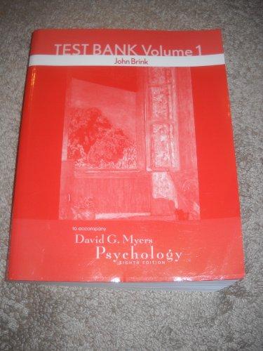 9780716778837: Testbank Volume 1 to Accompany Myers Psychology 8th Edition