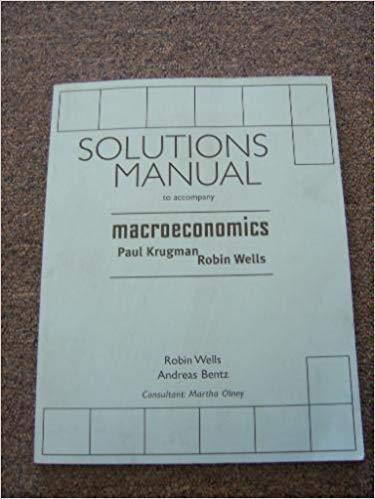 9780716779643: Macroeconomics Instructors Solution Manu