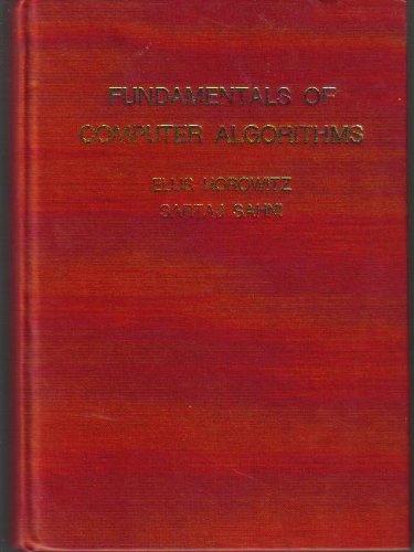 9780716780458: Fundamentals of Computer Algorithms