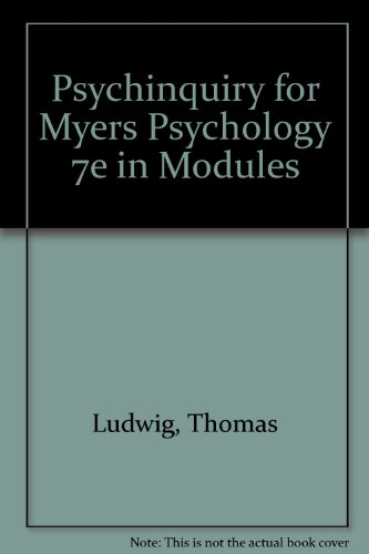 9780716786382: PsychInquiry CD-Rom: for Myers Psychology 7e in Modules