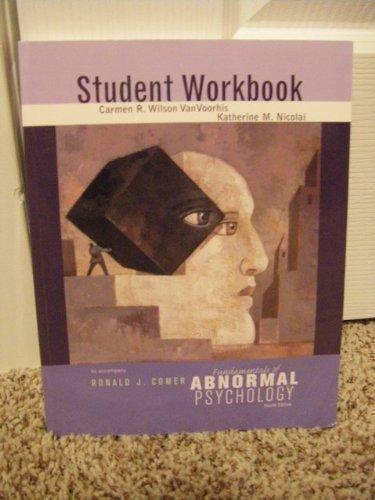 Ronald Comer Fundamentals Abnormal Psychology Abebooks