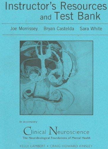 Instructor's Resource Manual and Printed Test Bank: Kinsley, Craig, Lambert,