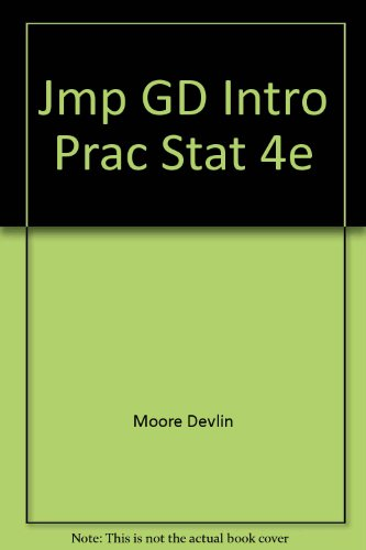 9780716796312: JMP Manual for Moore and McCabe's Introduction to the Practice of Statistics 4e