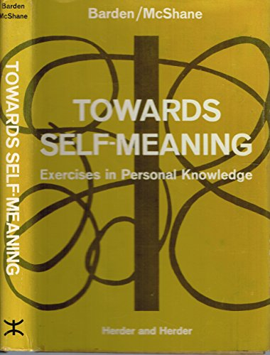 9780717102310: Towards Self Meaning