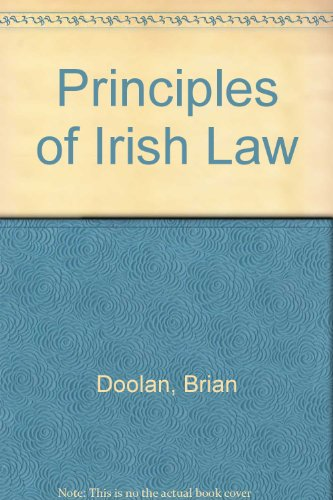 9780717111244: Principles of Irish Law