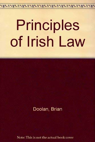 9780717114382: Principles of Irish Law