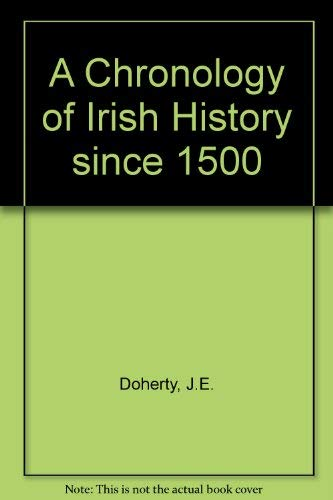 9780717116348: A Chronology of Irish History since 1500