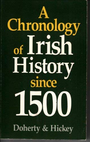 9780717117055: A Chronology of Irish History Since 1500