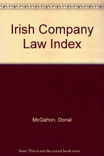 Irish Company Law Index: McGahon, Donal