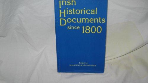 Irish Historical Documents Since 1800: O'Day, Alan
