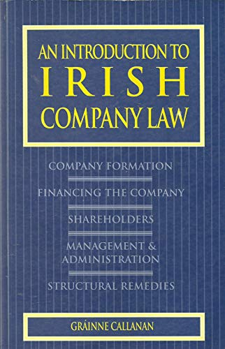 9780717127344: An Introduction to Irish Company Law