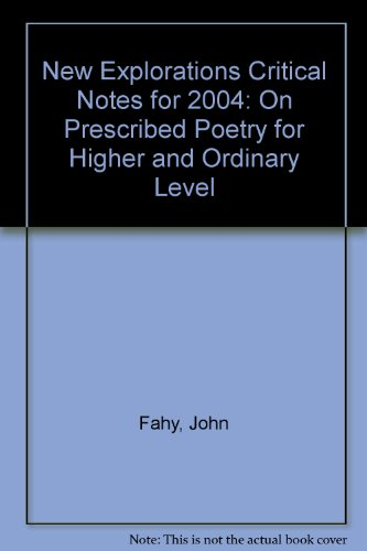 New Explorations Critical Notes for 2004: On: Fahy, John